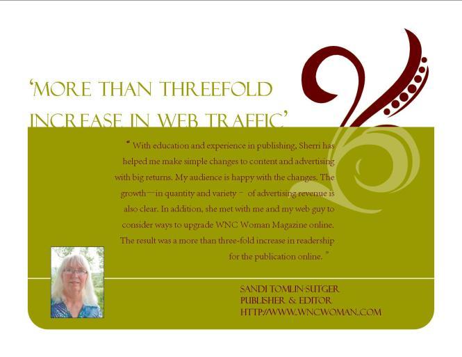 Testimonial Sandi Tomlin-Sutger